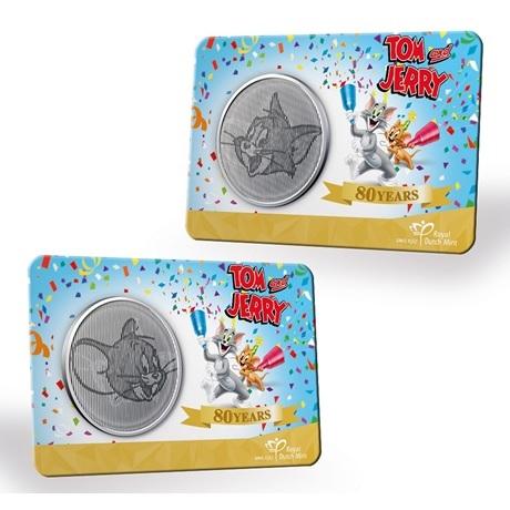 (MED14.Méd.KNM.2020.0110357) Médaille cupro-nickel- 80ème anniversaire de Tom et Jerry (carte)