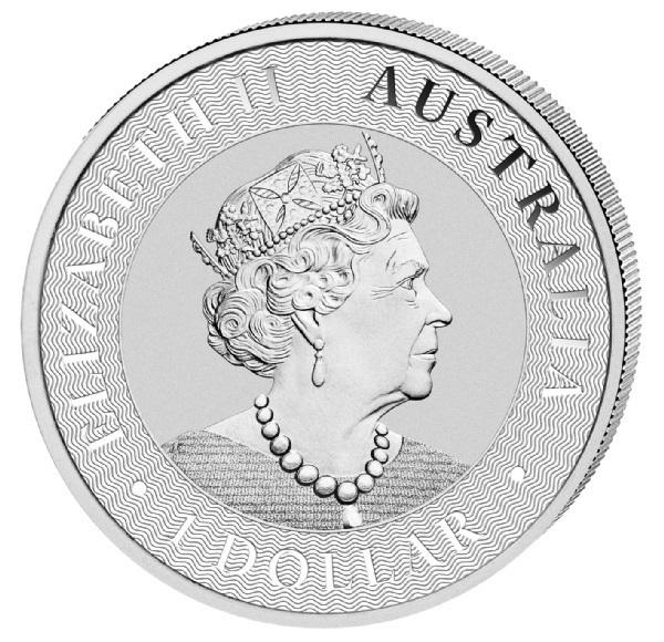 (W017.1.D.2021.1.oz.Ag.4) 1 Dollar Australia 2021 1 oz silver - Kangaroo Obverse (zoom)