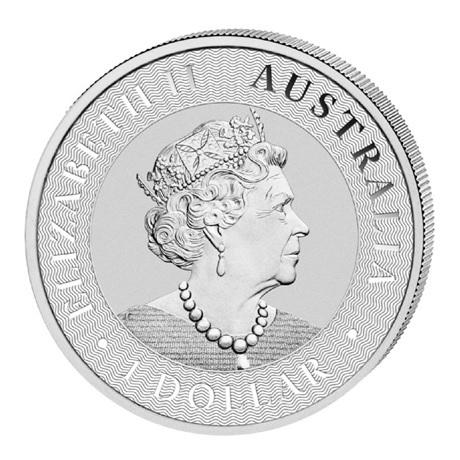 (W017.1.D.2021.1.oz.Ag.4) 1 Dollar Australie 2021 1 once argent - Kangourou Avers