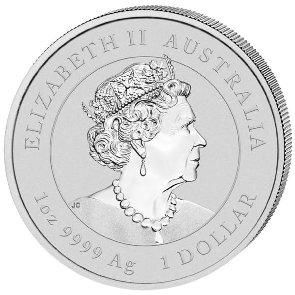 (W017.1.D.2021.1.oz.Ag.5) 1 Dollar Australia 2021 1 oz silver - Year of the Ox Obverse (zoom)