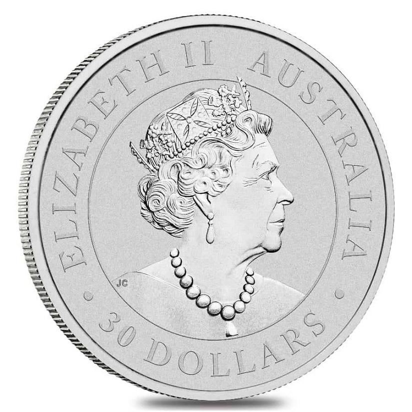(W017.30.D.2021.1.kg.Ag.1) 30 Dollars Australia 2021 1 kilo BU silver - Koala Obverse (zoom)