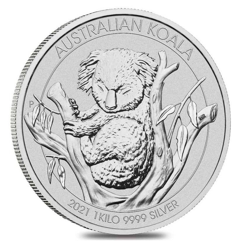 (W017.30.D.2021.1.kg.Ag.1) 30 Dollars Australia 2021 1 kilo BU silver - Koala Reverse (zoom)