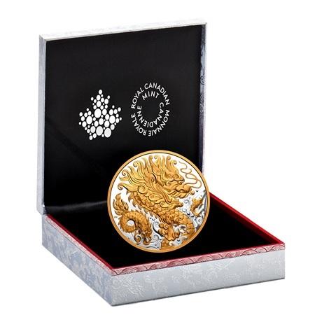 (W037.125.D.2021.180081) 125 Dollars Dragon triomphant 2021 - Ag BE (écrin)