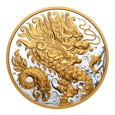 (W037.125.D.2021.180081) 125 Dollars Dragon triomphant 2021 - Argent BE Revers