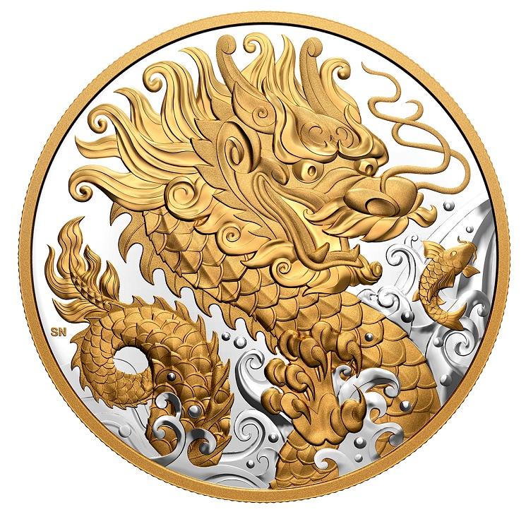 (W037.125.D.2021.180081) 125 Dollars Triumphant dragon 2021 - Proof silver Reverse (zoom)