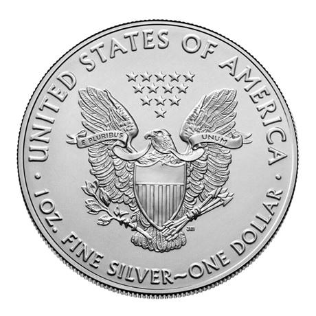 (W071.1.D.2021.1.oz.Ag.1) 1 Dollar Etats-Unis 2021 1 once argent - Aigle américain Revers