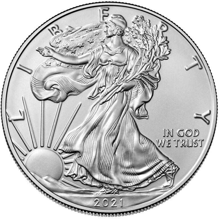 (W071.1.D.2021.1.oz.Ag.1) 1 Dollar USA 2021 1 oz silver - American Eagle Obverse (zoom)