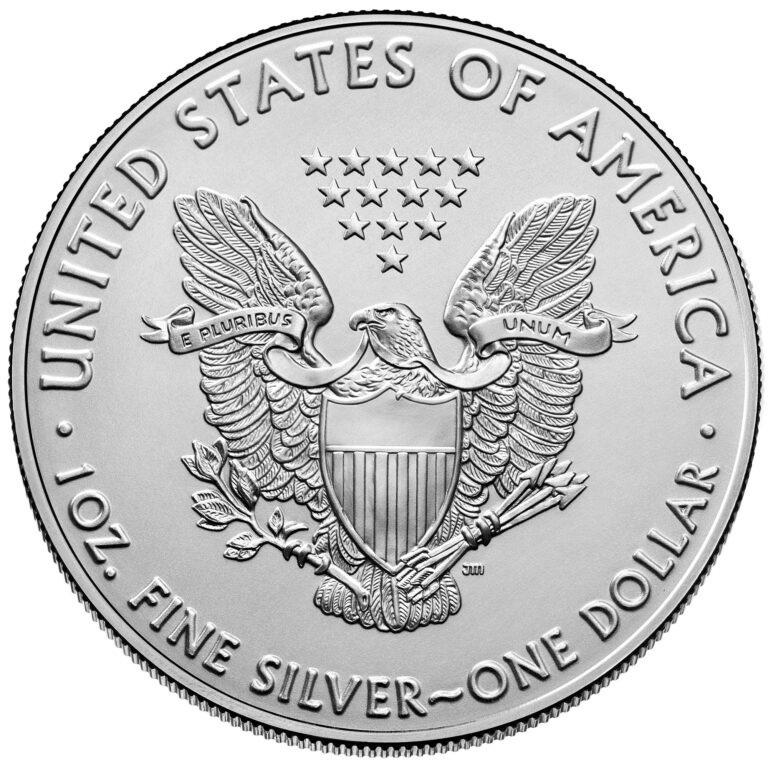 (W071.1.D.2021.1.oz.Ag.1) 1 Dollar USA 2021 1 oz silver - American Eagle Reverse (zoom)