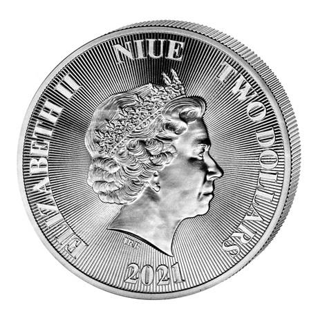 (W160.200.2021.1.oz.Ag.2) 2 Dollars Niue 2021 1 once argent BU - Arbre de vie Avers