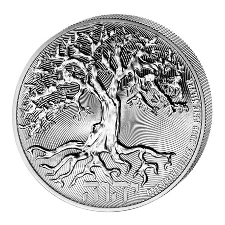 (W160.200.2021.1.oz.Ag.2) 2 Dollars Niue 2021 1 once argent BU - Arbre de vie Revers