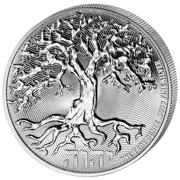 (W160.200.2021.1.oz.Ag.2) 2 Dollars Niue 2021 1 oz BU silver - Tree of Life Reverse (zoom)