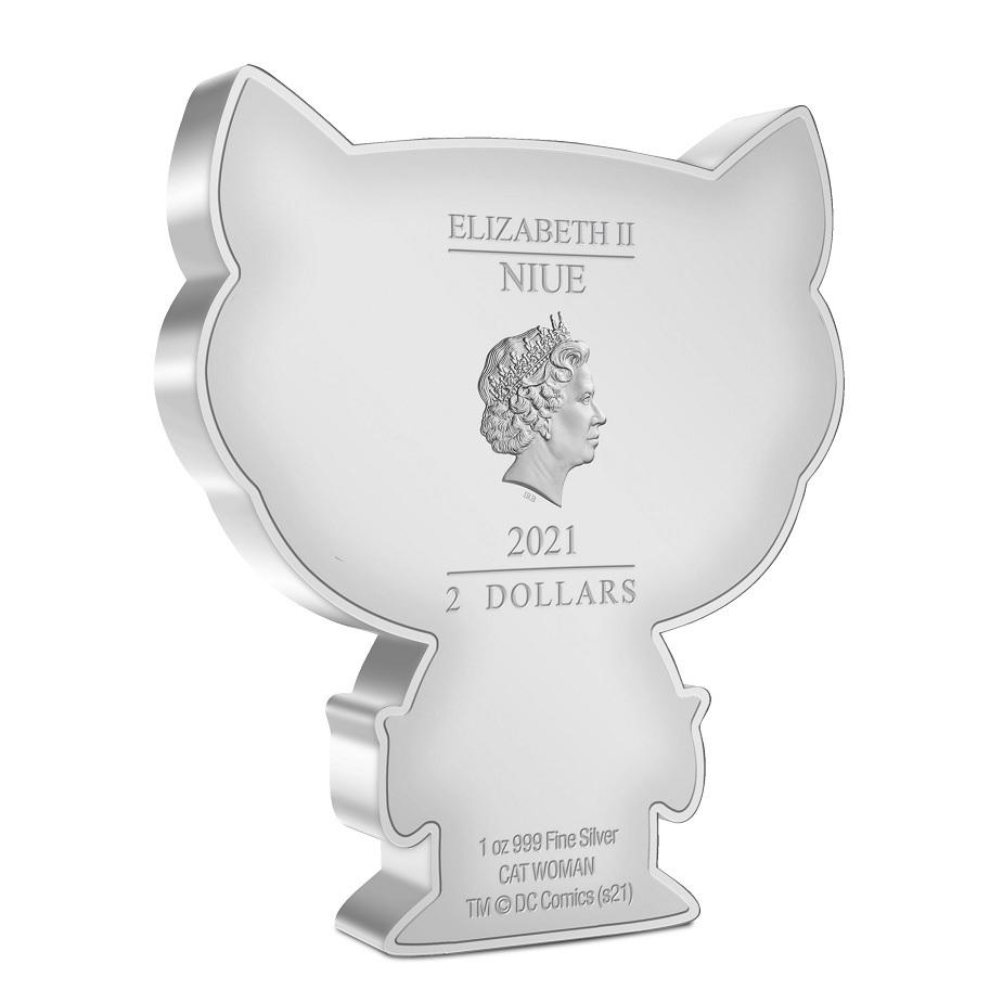 (W160.200.2021.30-01039) 2 Dollars Niue 2021 1 oz Proof silver - Chibi Catwoman Obverse (zoom)