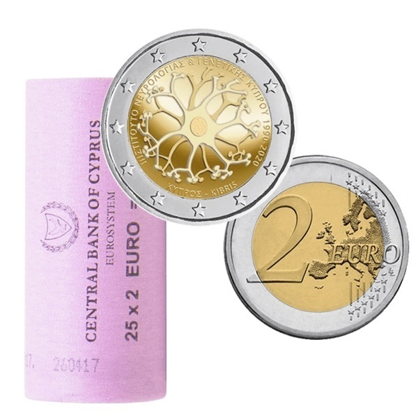 2 euro roll Cyprus 2020 - Cyprus Institute of Neurology and Genetics (zoom)
