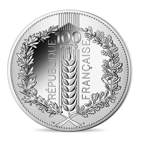 (EUR07.10000.2021.10041355370001) 100 euro France 2021 argent - Laurier Revers