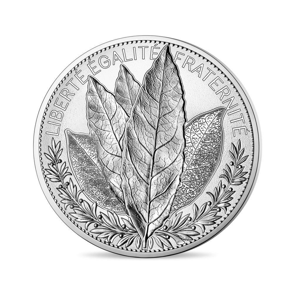 (EUR07.10000.2021.10041355370001) 100 euro France 2021 silver - Laurel Obverse (zoom)