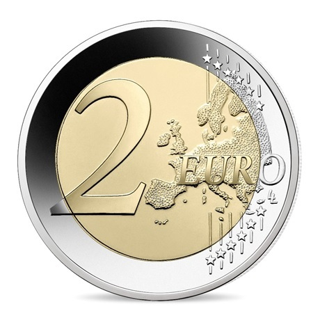 (EUR07.ComBU&BE.2021.10041355030000) 2 euro commémorative France 2021 BE - UNICEF Revers