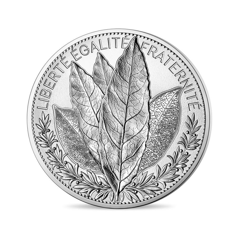 (EUR07.ComBU&BE.2021.10041355390000) 20 euro France 2021 Proof silver - Laurel Obverse (zoom)