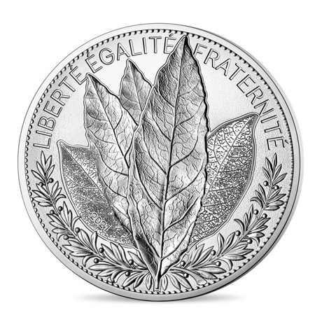 (EUR07.ComBU&BE.2021.10041355390000) 20 euro France 2021 argent BE - Laurier Avers