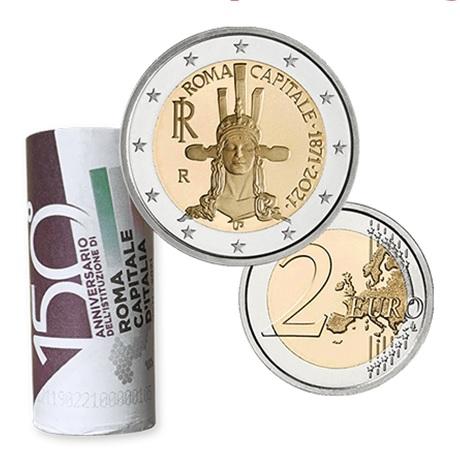(EUR10.200.2021.48-2MS10-21F001) Rouleau 2 euro commémorative Italie 2021 - Rome (illustré)