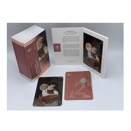 (EUR18.ComBU&BE.2021.200.332) 2 euro commémorative Saint-Marin 2021 BU - Le Caravage (packaging)