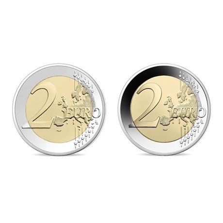 (LOT.EUR07.ComBU&BE.2021.10041355040000.&.10041355030000) 2 euro commémoratives France 2021 - UNICEF (lot des 2) Revers