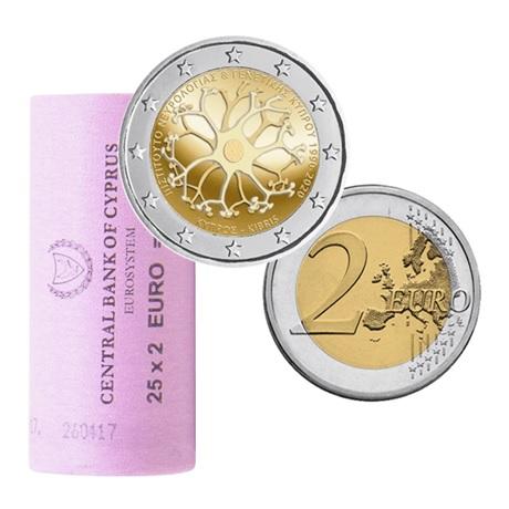 Rouleau 2 euro commémorative Chypre 2020 - Institut chypriote de neurologie et de génétique