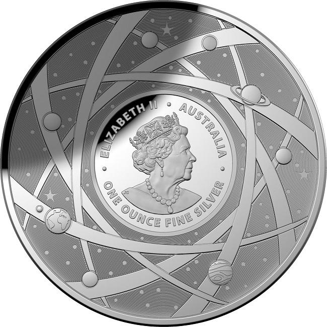 (W017.5.D.2021.10639) 5 Dollars Australia 2021 1 oz Proof silver - Milky Way Obverse (zoom)