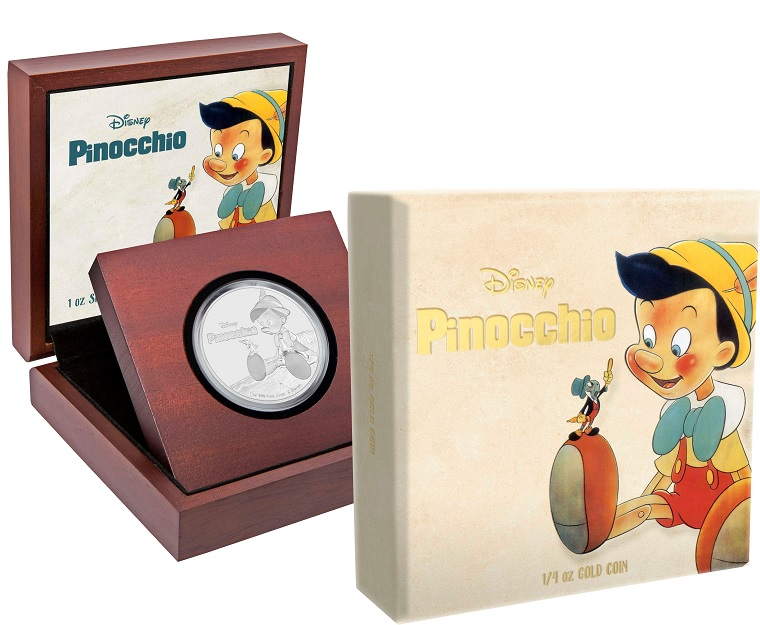 (W160.2.D.2018.30-00720) 2 Dollars Niue 2018 1 ounce Proof Ag - Pinocchio (box and case) (zoom)