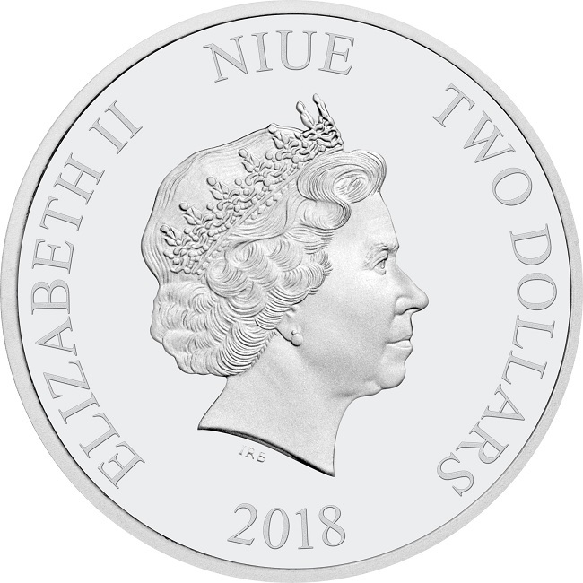 (W160.2.D.2018.30-00720) 2 Dollars Niue 2018 1 oz Proof silver - Pinocchio Obverse (zoom)