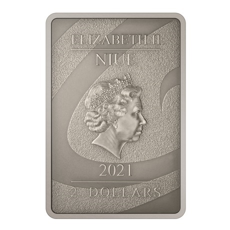 (W160.2.D.2021.30-01027) 2 Dollars Niue 2021 1 once argent Antique - Le Cauchemar avant Noël Avers