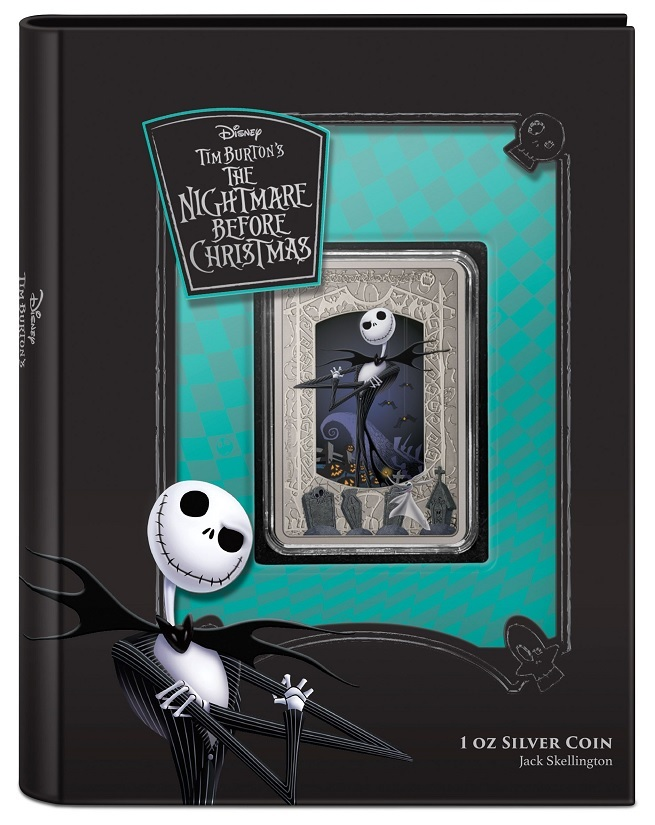 (W160.2.D.2021.30-01027) 2 Dollars Niue 2021 1 ounce Antiqued silver - Nightmare Before Christmas (closed) (zoom)