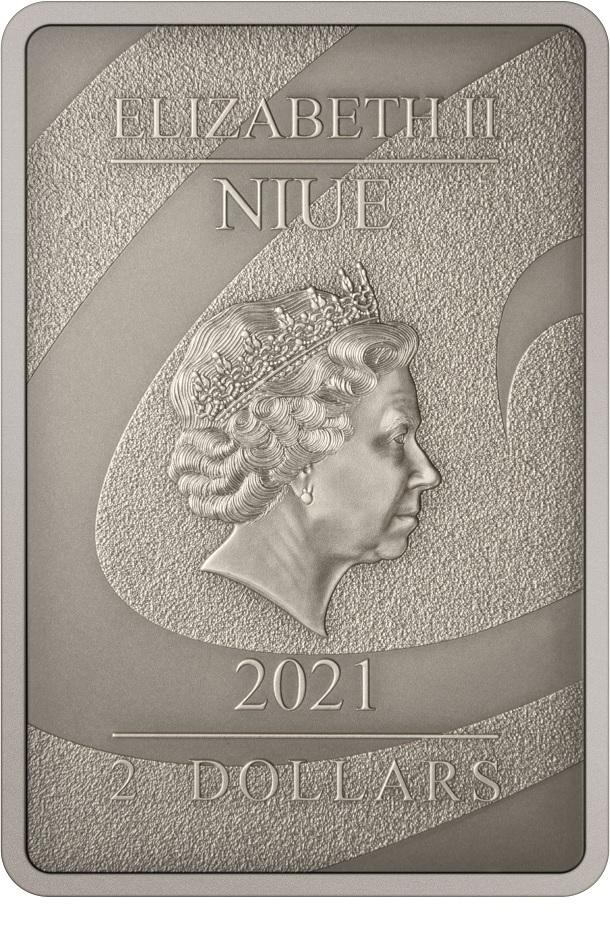 (W160.2.D.2021.30-01027) 2 Dollars Niue 2021 1 oz Antiqued silver - Nightmare Before Christmas Obverse (zoom)
