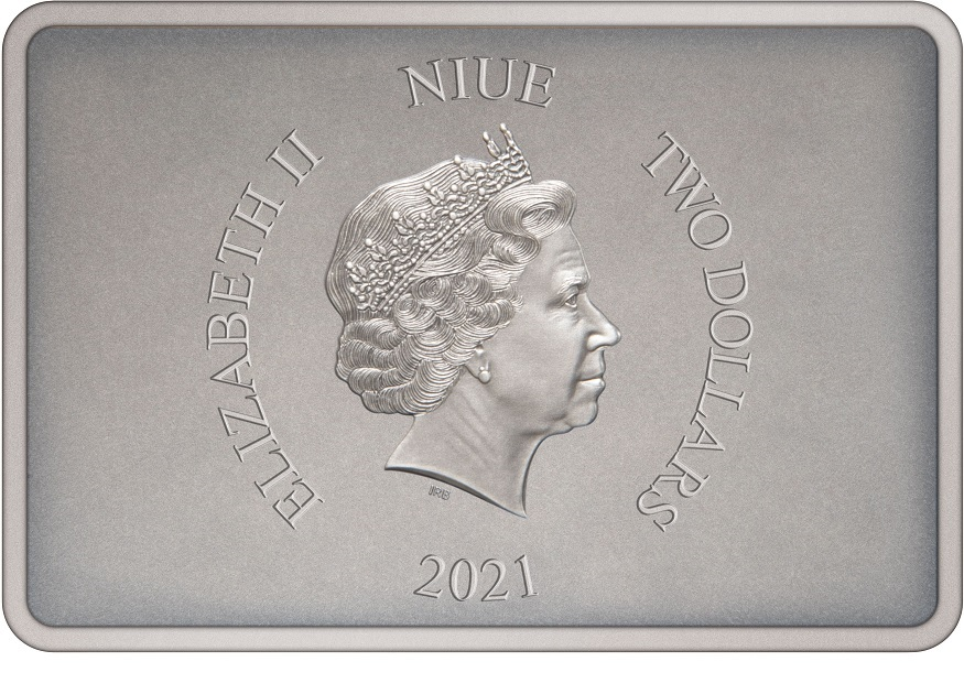 (W160.2.D.2021.30-01028) 2 Dollars Niue 2021 1 oz Proof silver - Knights of Ren Obverse (zoom)
