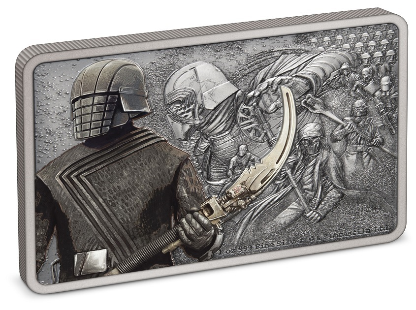 (W160.2.D.2021.30-01028) 2 Dollars Niue 2021 1 oz Proof silver - Knights of Ren (edge) (zoom)