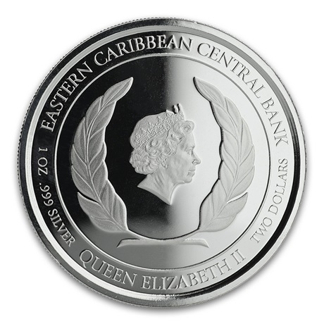 (W189.2.2.D.2020.1.oz.Ag.2) 2 Dollars Saint-Kitts-et-Nevis 2020 1 oz Ag BE - Brimstone Hill Avers