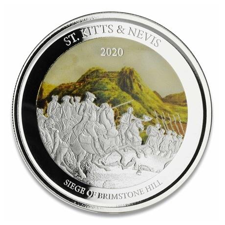 (W189.2.2.D.2020.1.oz.Ag.2) 2 Dollars Saint-Kitts-et-Nevis 2020 1 oz Ag BE - Brimstone Hill Revers