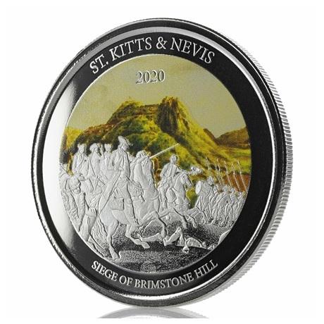 (W189.2.2.D.2020.1.oz.Ag.2) 2 Dollars Saint-Kitts-et-Nevis 2020 1 oz Ag BE - Brimstone Hill (tranche)