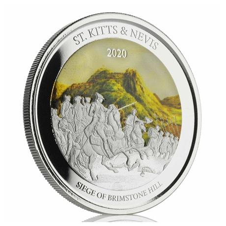(W189.2.2.D.2020.1.oz.Ag.2) 2 $ Saint-Kitts-et-Nevis 2020 1 once Ag BE - Brimstone Hill (tranche)