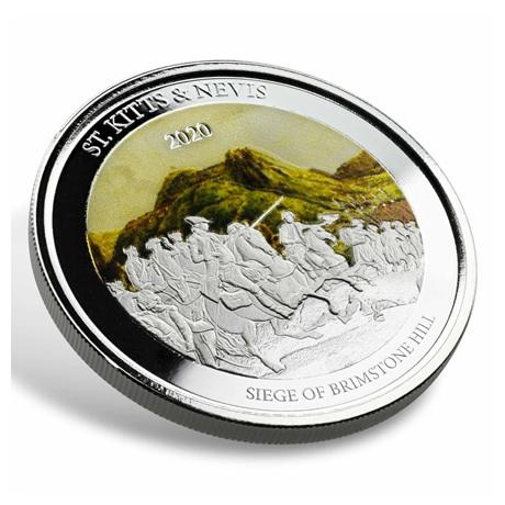 (W189.2.2.D.2020.1.oz.Ag.2) 2 $ Saint-Kitts-et-Nevis 2020 1 oz Ag BE - Brimstone Hill (tranche)