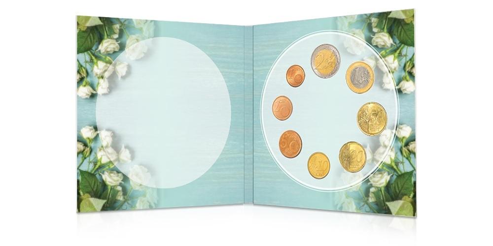 (EUR06.CofBU&FDC.2021.Cof-BU.1) BU coin set Finland 2021 (Wedding) (open) (zoom)