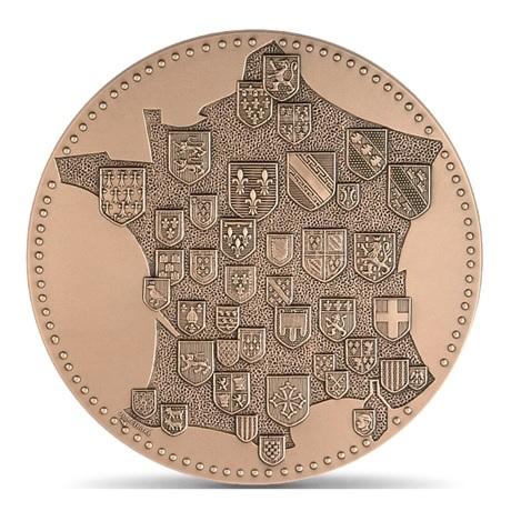 (FMED.Méd.MdP.CuSn.100100887000P0) Médaille bronze - France aux armes des provinces Avers