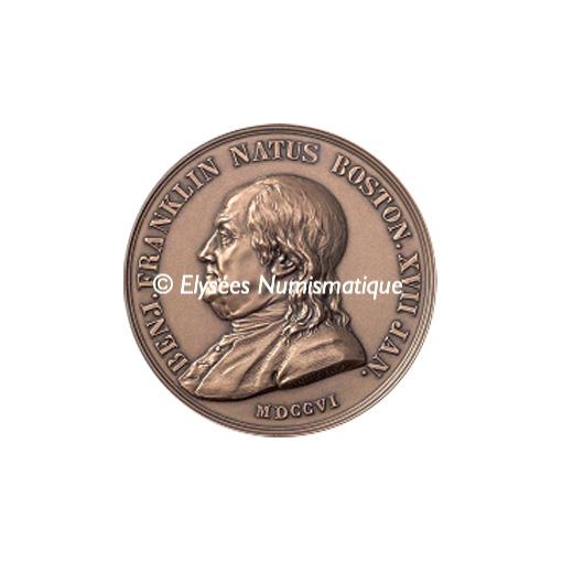 Médaille bronze - Franklin - avers