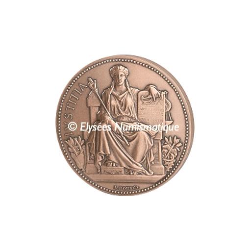 Médaille bronze - La Justice - avers