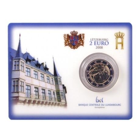 2 euro commémorative Luxembourg 2008 BU - Château de Colmar-Berg