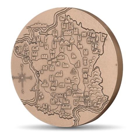 (FMED.Méd.MdP.CuSn.100100334800P0) Médaille bronze - France touristique, par Turin Revers