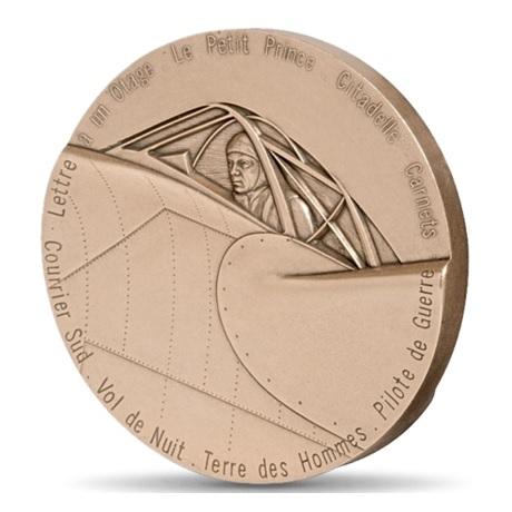 (FMED.Méd.MdP.CuSn.100111147600P0) Médaille bronze - Antoine de Saint-Exupéry Revers