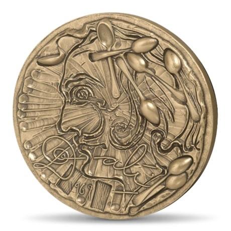 (FMED.Méd.MdP.CuSn.100112278200P0) Médaille bronze - Dali par lui-même Avers