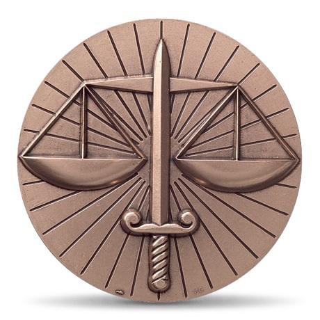 (FMED.Méd.MdP.CuSn.100110712400P0) Médaille bronze - La Justice, par Gregorio Vardanega Avers