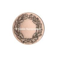 Médaille bronze - La Justice - revers