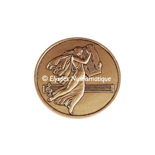 Médaille bronze - Musique, par Crouzat - avers